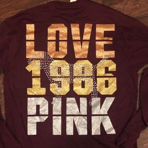 NEW PINK VS LONG SLEEVE T-SHIRT
